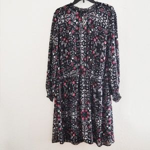 Dresses & Skirts - Floral Vines Long Sleeve Dress Gray Plus Size 3X